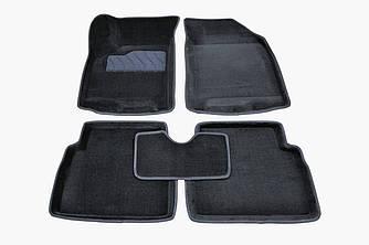Коврики в салон 3D для Chevrolet Aveo 2003-2011 /Черные 5шт 71682