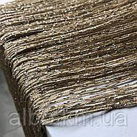 Штори-нитки з люрексом Серпанок 3 х 2.8 м, колір веселка - білий,сірий,чорний (для спальні, вітальні, кухні), фото 6