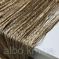 Штори-нитки з люрексом Серпанок 3 х 2.8 м, колір веселка - білий,сірий,чорний (для спальні, вітальні, кухні), фото 7