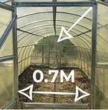 Теплица «Омега» 3х10 из оцинкованного омега профиля с пленкой 150 мкм, фото 4