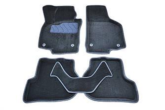 Коврики в салон 3D для Skoda Octavia (A5)/VW Golf V/VI/Jetta 2004- /Черные 5шт 82170