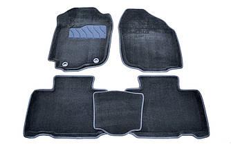 Килимки в салон 3D для Toyota RAV 4 2012- /Чорні 5шт 84005