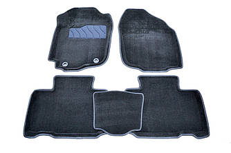 Коврики в салон 3D для Toyota RAV 4 2012- /Черные 5шт 84005