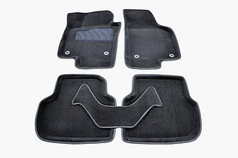 Килимки в салон 3D для Volkswagen Jetta 2011- /Чорні 5шт 83713