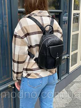 Жіночий шкіряний міський рюкзак на одне відділення Polina & Eiterou