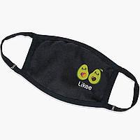 Многоразовая маска Лайк Авокадо (Likee Avocado) (9259-1031) тканевая для детей и взрослых защитная, фото 1