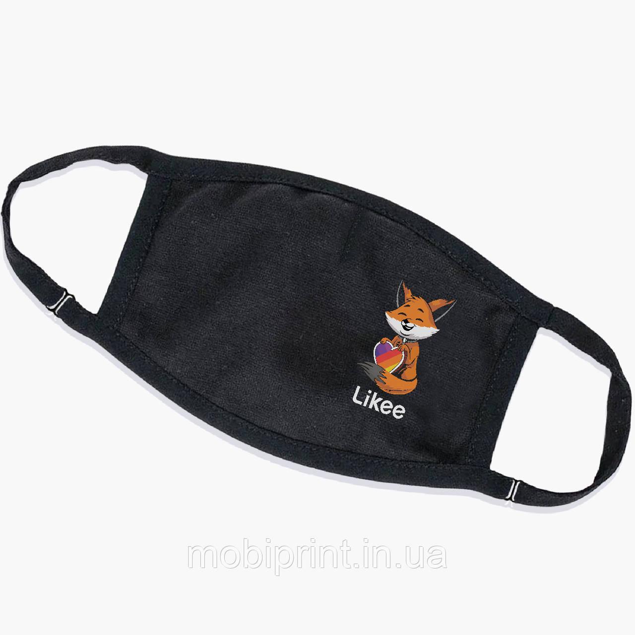 Багаторазова маска Лайк Лисичка (Likee Fox) (9259-1033) тканинна для дітей і дорослих захисна