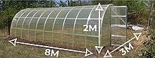 Теплица «Омега» 3х8 из оцинкованного омега профиля с пленкой 150 мкм