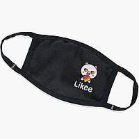 Многоразовая маска Лайк Котик (Likee Cat) (9259-1036) тканевая для детей и взрослых защитная, фото 1