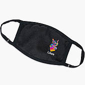 Многоразовая маска Лайк Котик (Likee Cat) (9259-1040) тканевая для детей и взрослых защитная