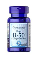 Комплекс витаминов группы В В complex Витамин B-50  Puritan's Pride 100 таб.