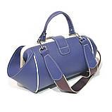 Сумка-ридикюль из кожи и текстиля Диор объемной конструкции, цвет синий, фото 4