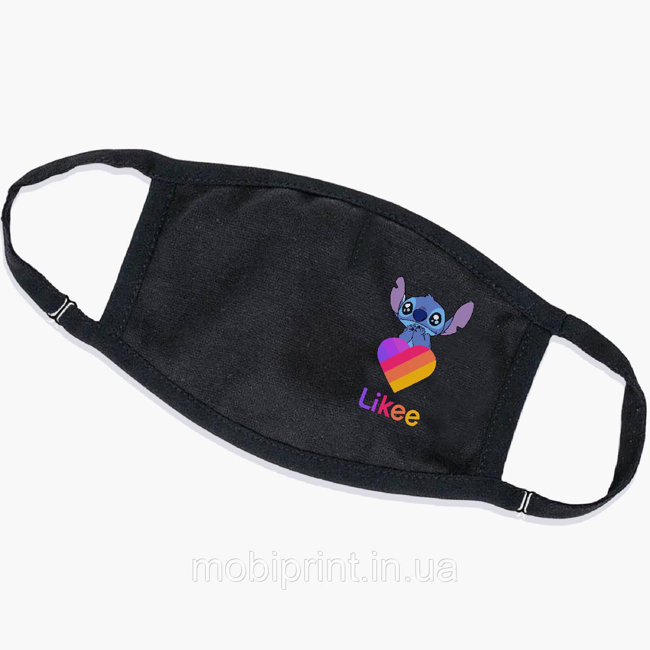 Многоразовая маска Стич Лайки (Stitch Likee) (9259-1596) тканевая для детей и взрослых защитная