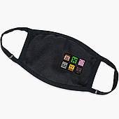 Многоразовая маска Майнкрафт (Minecraft) (9259-1173) тканевая для детей и взрослых защитная