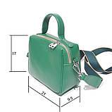 Сумка держащая квадратную форму, размер S, цвет зеленый, фото 3