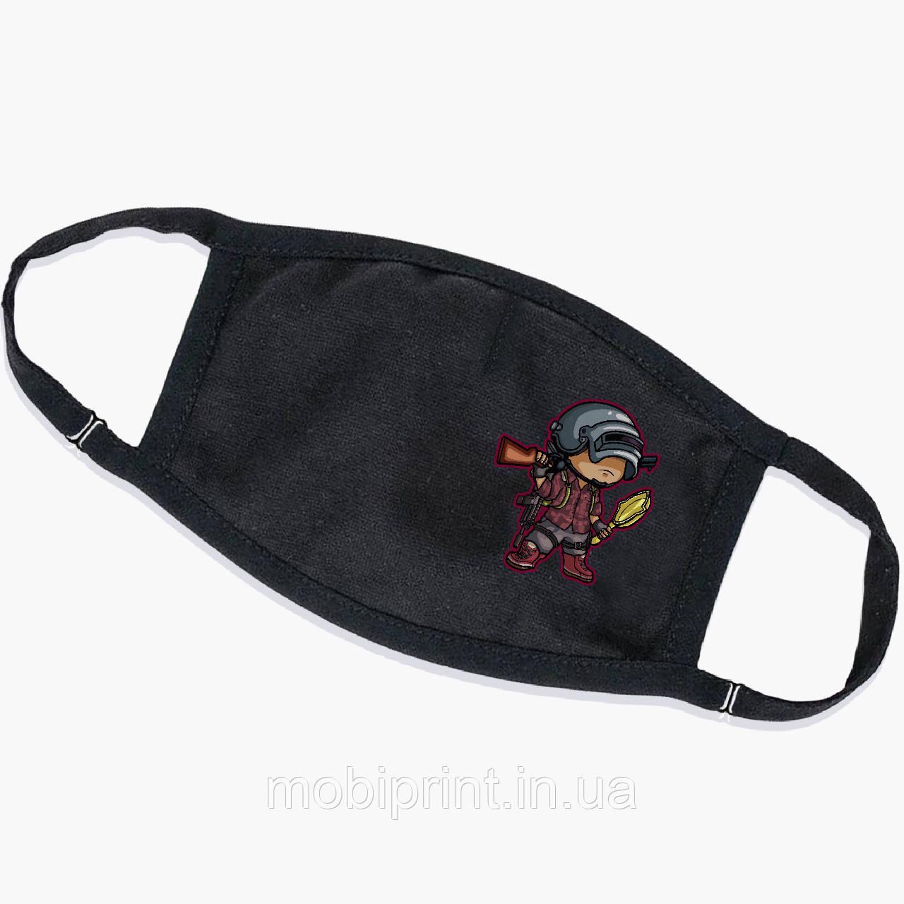 Многоразовая маска Пабг (Pubg) (9259-1710) тканевая для детей и взрослых защитная