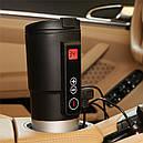 Автомобильная смарт-термокружка SUNROZ Smart Mug с подогревом и контролем температуры 380 мл Черный (SUN1126), фото 4