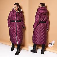 Женское батальное  стеганое пальто на синтепоне. 3 цвета!, фото 1