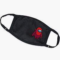 Багаторазова маска Амонг Червоний Ас (Among Us Red) (9259-2411) тканинна для дітей і дорослих захисна, фото 1