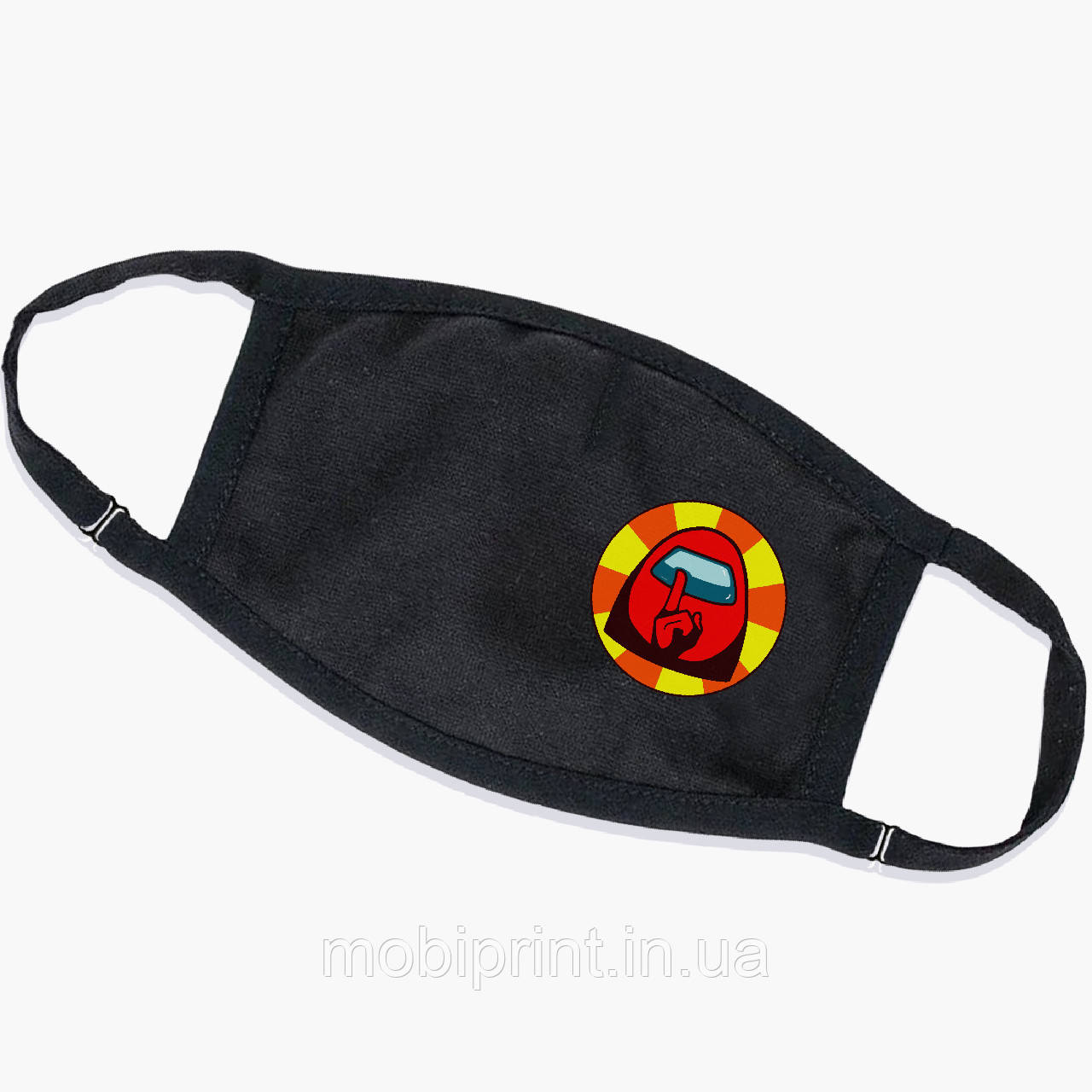 Багаторазова маска Амонг Червоний Ас (Among Us Red) (9259-2412) тканинна для дітей і дорослих захисна