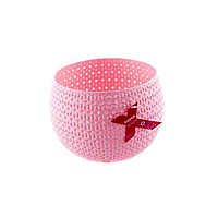 "Корзинка круглая 1,5 л Tuppex ""Knit"" 15 x 11 см, вязка"