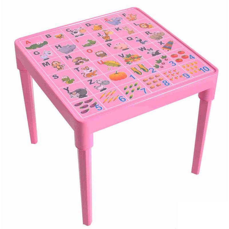 Стіл дитячий Азбука англійська Рожевий