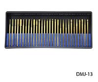 Набор насадок для фрезера с алмазным напылением,серебро Lady Victory (30 шт.) LDV DMJ-13S /58-3