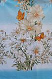Простынь из бязи Голд полуторная Голубая орхидея, фото 2
