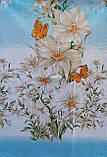 Простынь из бязи Голд полуторная Голубая орхидея, фото 3
