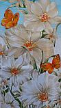 Простынь из бязи Голд полуторная Голубая орхидея, фото 5