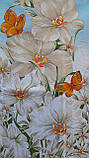 Простынь из бязи Голд полуторная Голубая орхидея, фото 6