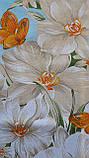 Простынь из бязи Голд полуторная Голубая орхидея, фото 7