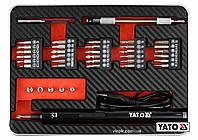 """Викрутка акумуляторна з набором біт YATO Li-Ion 3.6В 450 мАгод LED-підсвітка HEX-1/4"""" 39 шт + кейс"""