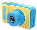 Дитяча цифрова камера SUNROZ Smart Kids Camera 720P 2 Жовто-блакитний (SUN4014), фото 3