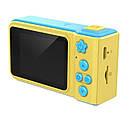 Дитяча цифрова камера SUNROZ Smart Kids Camera 720P 2 Жовто-блакитний (SUN4014), фото 4