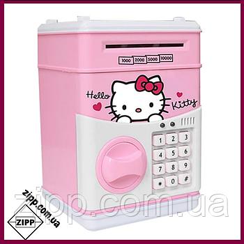 """Електронний Сейф скарбничка з кодовим замком """"Hello, Kitty""""   Дитяча скарбничка   Скарбничка Hello Kitty  """