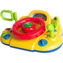 Автотренажер дитячий кермо Limo Toy Автолюбитель Жовтий (M 1377 UR)