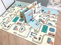 Детский двусторонний коврик Лес и Дорога складной развивающий коврик термо 2м х 1,5м х 6 мм