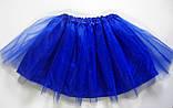 Юбка фатиновая, голубая. Длина 40см., фото 2