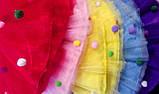 Юбка фатиновая, голубая. Длина 40см., фото 3