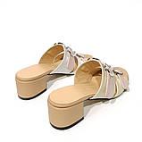 Cабо с ремешками на подъеме, каблук 4см, цвет нюд, беж, пудра,белый, в наличии размер 37, фото 4