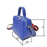 Сумка держащая квадратную форму, размер S, цвет синий, фото 3
