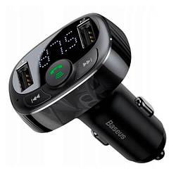MP3 FM-модулятор Baseus T-Typed MP3 Car Charger S-09A Black