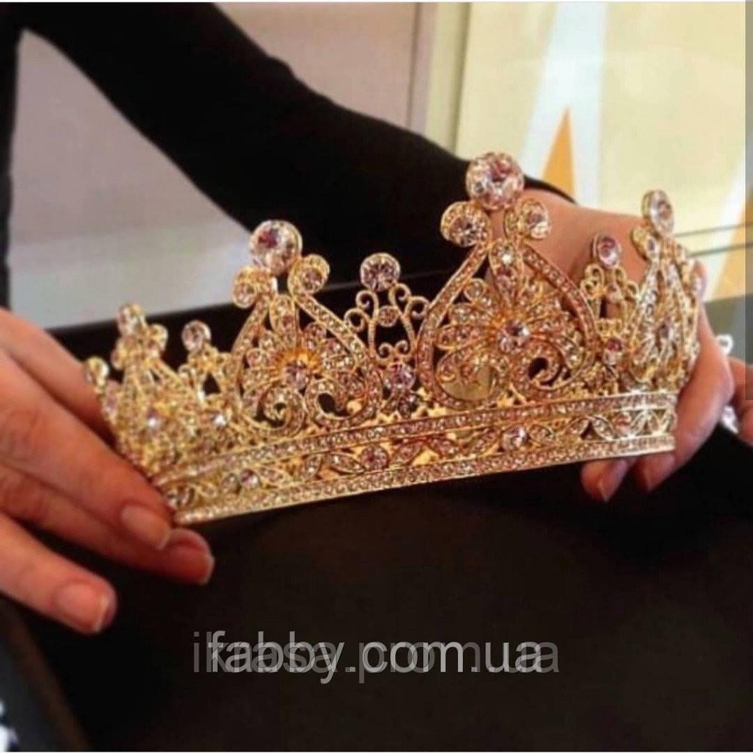Aimée - Корона цілком кругла, повне коло золотого кольору (7см)