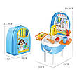 Игровой набор Washing vegetable basin кухня в форме рюкзака голубой, фото 6