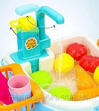 Игровой набор Washing vegetable basin кухня в форме рюкзака голубой, фото 3