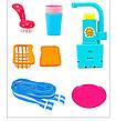 Игровой набор Washing vegetable basin кухня в форме рюкзака голубой, фото 4