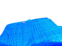 """Тент 5х6 от дождя, и для создания тени """"Blue"""" 60 г/м2. Ламинированный с кольцами. Полог."""