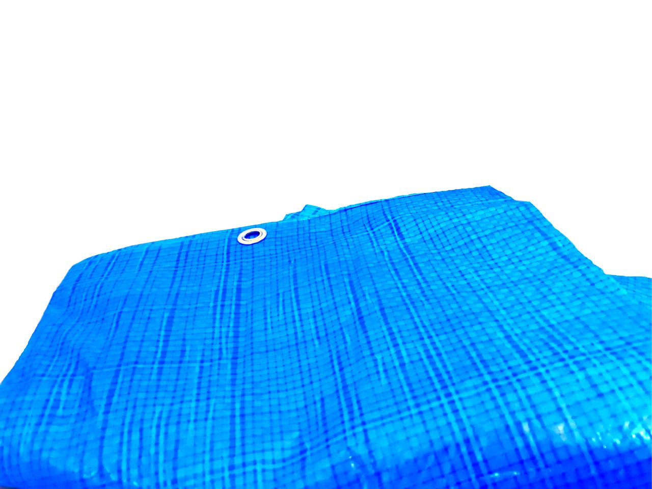 """Тент 5х8 от дождя, и для создания тени """"Blue"""" 60 г/м2. Ламинированный с кольцами. Полог."""
