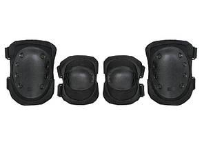 Комплект наколенники и налокотники - czarne [8FIELDS] (для страйкбола)